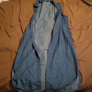 Long chambray vest